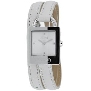 ⭐️HOST PICK⭐️COACH WHITE LEATHER WRAP WATCH